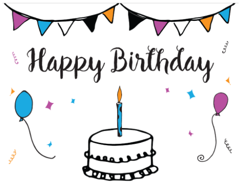Free Printable Birthday Card Template – Free Printing Birthday Cards