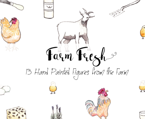 Hand Painted Farm Fresh Clipart