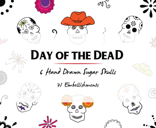 Day of the Dead Halloween Clipart
